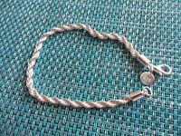 Damen Armband gedreht - 925 Silber plattiert - Schmuck - gut als Geschenk - NEU