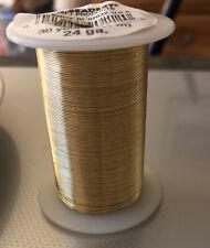 Craft Wire 24 Gauge 30 Y Gold Jewelry Making Supplies