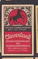Ancienne étiquette   allumette  Allemagne BN20329 Cheval