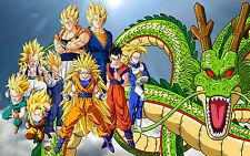 Poster A3 Dragon Ball Gohan Trunks Goten Goku Vegeta Super Saiyan 01