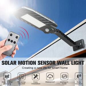 60/180 COB LED Solar Straßenbeleuchtung Mastleuchte Straßenlampe Fluter IP65