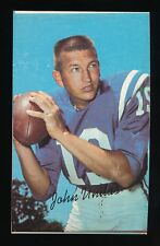 BLANK BACK SQUARE PROOF JOHNNY UNITAS CARD 1970 TOPPS SUPER #15 VINTAGE NO STATS