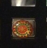 Roulette- Gambling Casino Las Vegas Reno - Italian Charm Bracelet Link 9mm