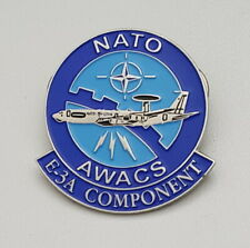 NATO AWACS E-3A COMPONENT Flugzeug Motiv Pin 35x34mm