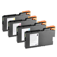 Genuine Ricoh 4PCS Ink Cartridges For CW2200/CW2201HSP CW1200//CW1201HSP