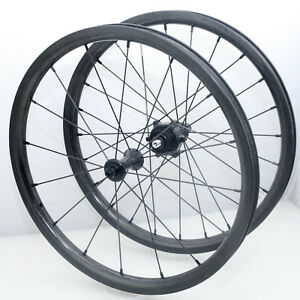 """Brompton Carbon Clincher WheelSet by HYLIX--16""""-Staright Pull-301g/466g-2 Speed"""