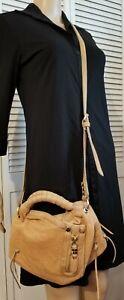OrYany Heather Mini Italian Leather Crossbody Handbag Purse Tan Brown