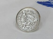 1939 79th birthday silver threepence earrings - 3d earrings Mothers Day