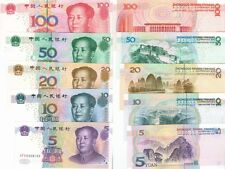 N0110, China 5 Pcs Banknotes 2005 set, from 5 to 100 Yuan