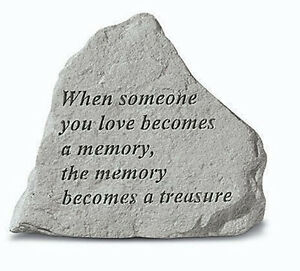 Family Memorial Garden Stone Plaque Grave Marker Ornament when someone you love