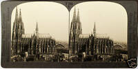 Keystone Stereoview of the Cathedral of Cologne, GERMAMY from 1930's T600 Set