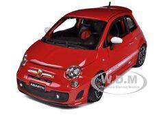 2008 FIAT ABARTH 500 RED 1/24 DIECAST CAR MODEL BY BBURAGO 22111