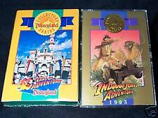 DISNEYLAND 40TH ANNIVERSARY CARDS + MATCHING INDIANA JONES VERY RARE FREE SHIP!!