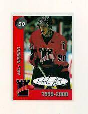 1999-00 Quebec Remparts Mike Ribeiro Autograph Card 084/100