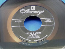 THE PLATTERS - Remember When / Love Of A Lifetime - NEAR MINT- 1959 CANADA 45