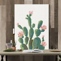 KQ_ FP- JW_ Green Plant Cactus Decorative Wall Art Painting Sofa Background Home
