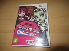 Monster High Ghoul Spirit Wii  New Sealed pal version