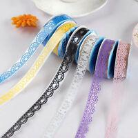 10PCS New Decorative Lace Roll Washi Sticky Paper Masking Adhesive Tape Crafts