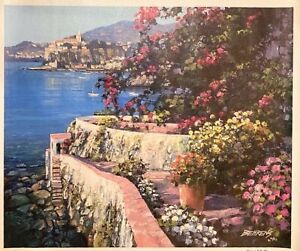 Howard Behrens Lake Como Overlook Giclee on Canvas Signed & Numbered COA