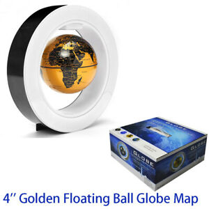 Globe Map 4 inch Floating Golden Mysterious World Map Decor Craft Fashion Gift