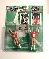 1997 NFL Starting Lineup Classic Doubles Joe Montana Dwight Clark 49ers Figure