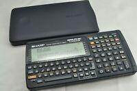 SHARP Pocket computer PC G850V Function Calculator vintage Tested Examined