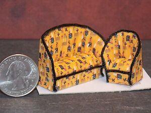Dollhouse Miniature Halloween Sofa Chair 1:48 Quarter 1/4 G63 Dollys Gallery
