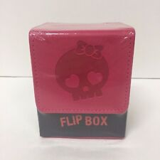 Ultra PRO Galaxy Pink Cutey Skull Leatherette Flip Deck Box NEW MTG Pokemon FOW