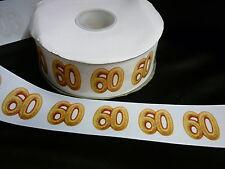 Cinta De Cumpleaños Pastel Decoración Pastel Artesanía - 50mm - 60 años sesenta - 1m