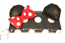 Disney Parks Exclusive Minnie Mouse Loungefly Bow Sequin Zip Around Wallet Nwt