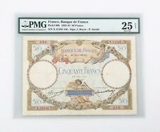 1933-1934 French 50 Francs Note VF-25 NET PMG Banque de France Very Fine P#80b
