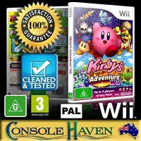 (Wii Game) Kirby's Adventure Wii / Kirbys (G) (Platformer) PAL, Guaranteed