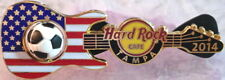 Hard Rock Cafe TAMPA 2014 Soccer Flag GUITAR Series PIN Ball Spins! HRC #77581