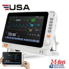 New Multi Parameter Patient Monitor Icu Ccu Vital Signs Ecg Nibp Resp Temp Spo2