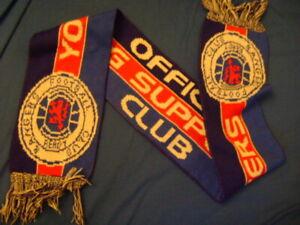 Glasgow Rangers FC scarf vintage 90'