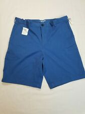 NEW!!! IZOD Mens Saltwater Flat Front Stretch Chino Shorts Blue Size 34 NWT