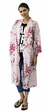 Kimono Ethnic Jacket Ume Uguisu Pink #680 Happi Coat Novelty Gift Halloween