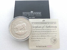 1992 Australia Kookaburra $10 Ten Dollar Silver Proof 10oz Coin Box Coa