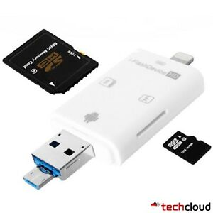 iFlash Driver OTG Micro USB SD Card Reader for iPhone and Android Phones
