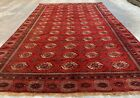 Authentic Hand Knotted Vintage  Afghan Turkmon Sara Wool Area Rug 11 x 7 Ft