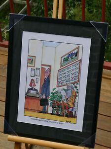 """Framed Real Estate Cartoon Print """"Oh him? Just Waiting for the Prices to Drop"""""""