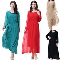 Dubai Abaya Muslim Islamic Womens Long Maxi Dress Cocktail Kaftan Loose Robe