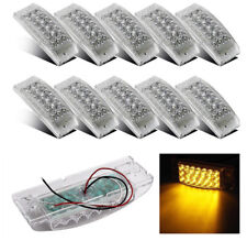 "10pcs 6""  Amber 20 LED Clear Lens Side Marker Sealed Auxiliary Turn Signal Light"