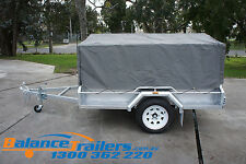 6X4 TRAILER CAGE CANVAS COVER TARP 600mm 2 FOOT