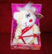 Dan Dee Valentine Idol Singing Cupid Bear Cream Plush You Made Me Love You New