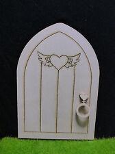 Fairy Door Natural Wood Goblins Fairy House Moss Gardens Love Hearts Knocker