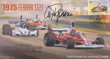 1975c FERRARI 312T, ANDERSTORP, SWEDEN F1 cover signed CLAY REGAZZONI