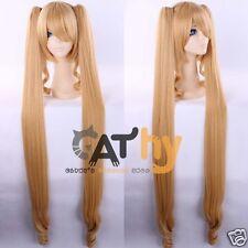 Free CAP + 120cm Rozen Maiden Shinku Lolita Anime Cosplay Costume Wig + Ponytail