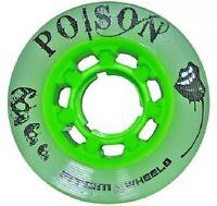 Atom Wheels - set of 4 - Poison 62 -  62mm x 38mm  - hybrid 84a roller derby