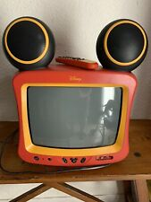 """MICKEY MOUSE WITH SPEAKER EARS CRT TV 13"""" DT1350-C WITH REMOTE"""